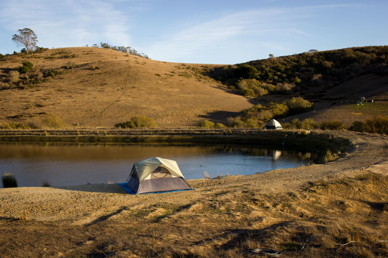 Biochar education, camping