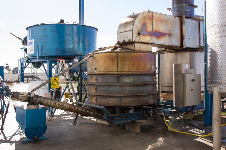 biochar production facility