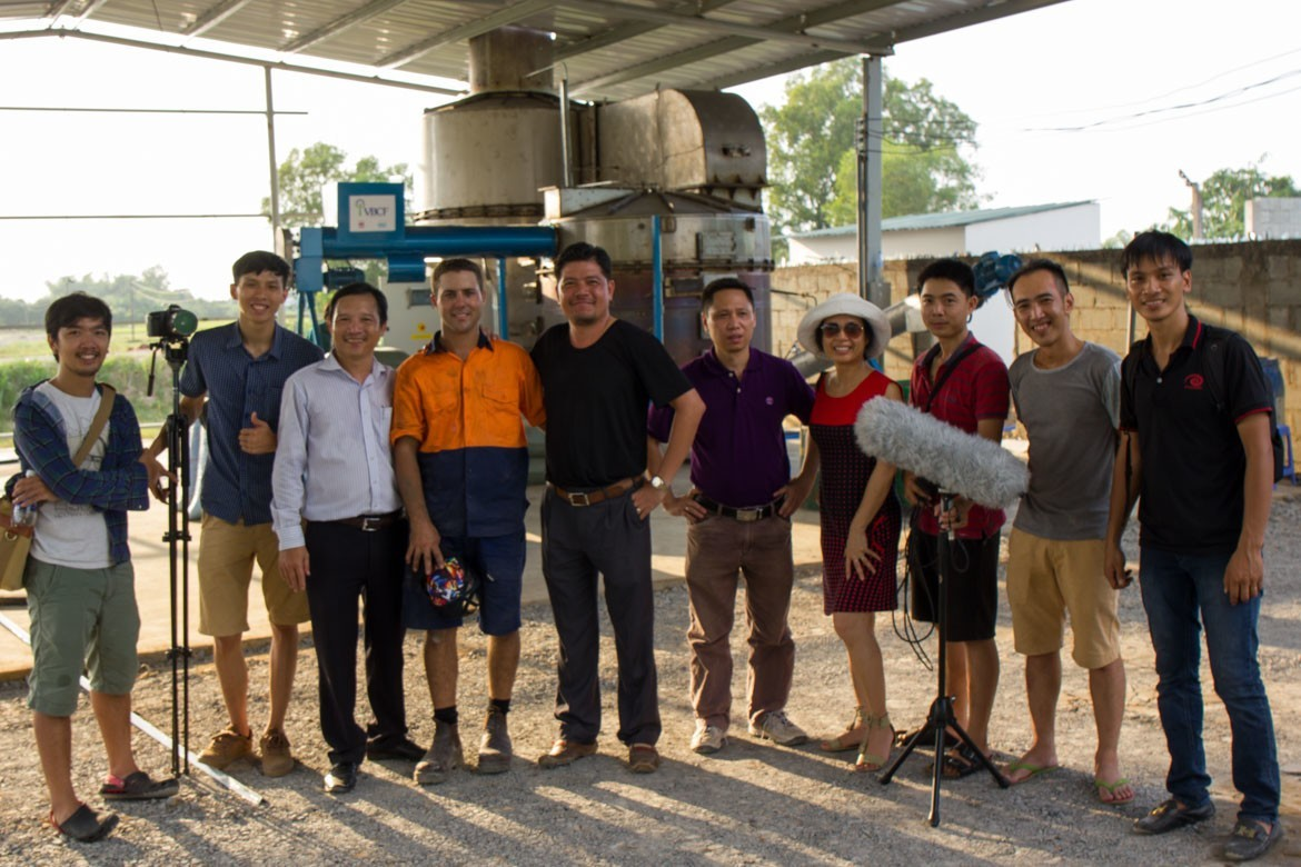Vietnam Business Challenge Fund Documentary Crew at EcoFarm