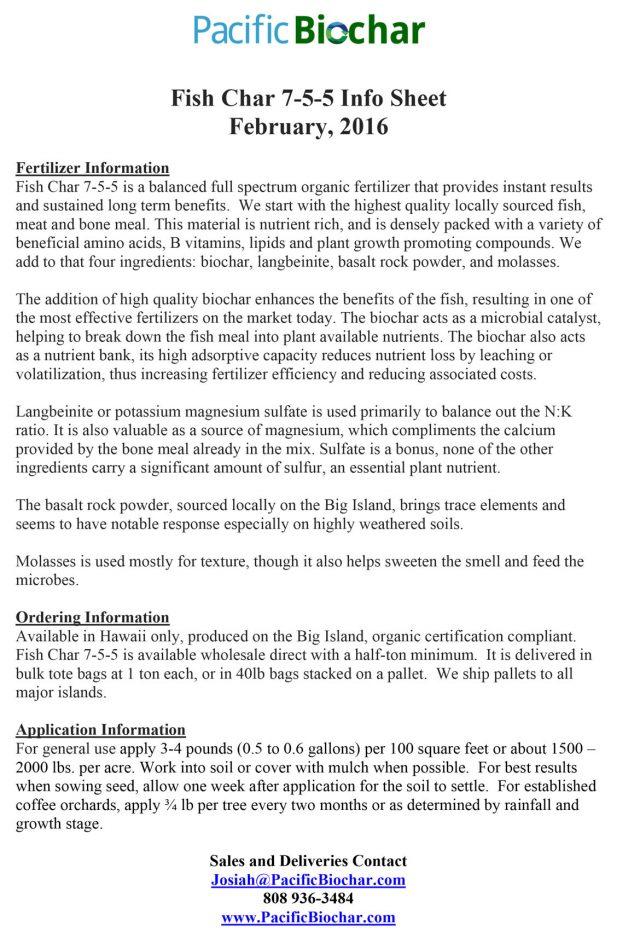 fish char 7-5-5 info sheet