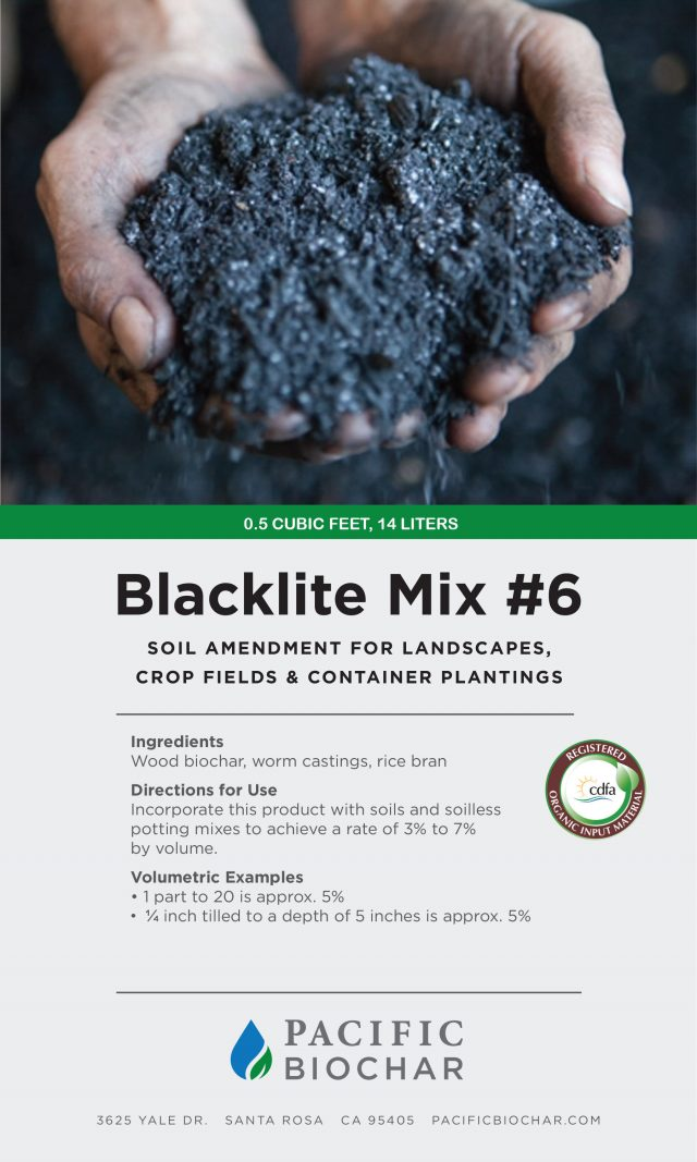 blacklite mix #6, garden size package label