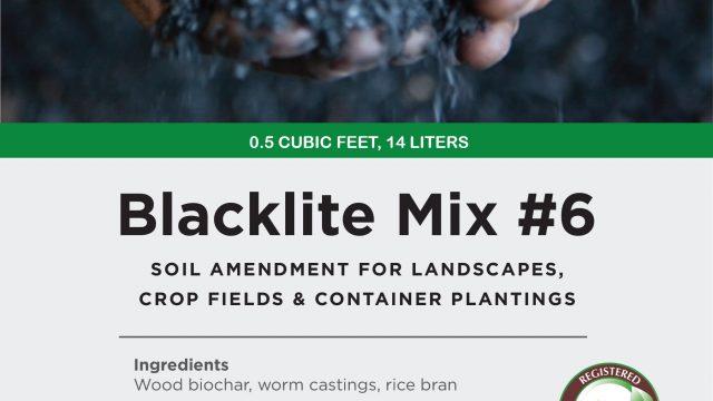 blacklite mix #6, garden size package label