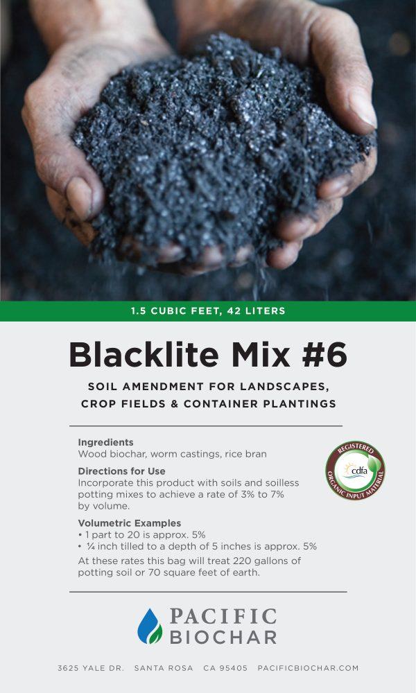 Blacklite Mix #6 label