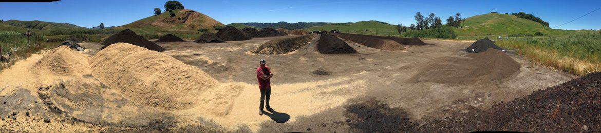 West Marin Compost, panoramic photo