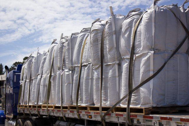 truckload of biochar