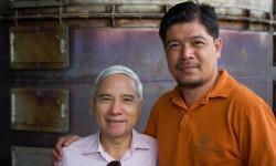Dr. Ninh and Mr. Quang at EcoFarm