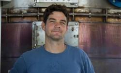 Josiah Hunt, at EcoFarm biochar production technology installation